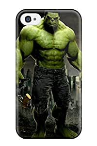 Iphone 4/4s Case Cover - Slim Fit Tpu Protector Shock Absorbent Case (hulk)