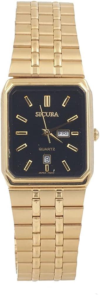 Sicura Man Watch SJH 3392-52E Steel Many popular brands Quartz Gold Black Stainless Superior