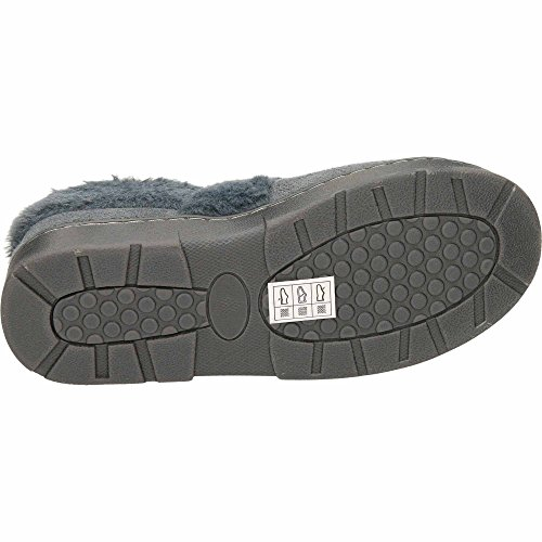 Dr Keller Plush Warm Lined Memory Foam Lightweight Slippers Grey JIyO3v