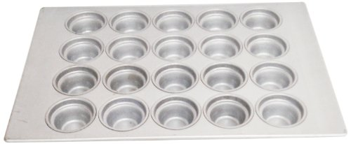 Magna Industries 15342 22-Gauge Aluminized Steel Crown Top Large Muffin Pan, 3-1/2