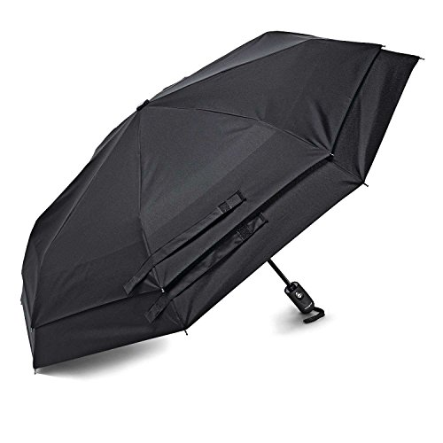 Samsonite Luggage Windguard Auto Open/Close Umbrella, Black