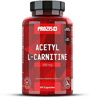 Prozis 100% Acetyl L-Carnitine Capsules 500mg: Suplemento de aminoácidos de alta calidad para perder peso y potenciar la capacidad mental y la energía. ¡60 cápsulas!