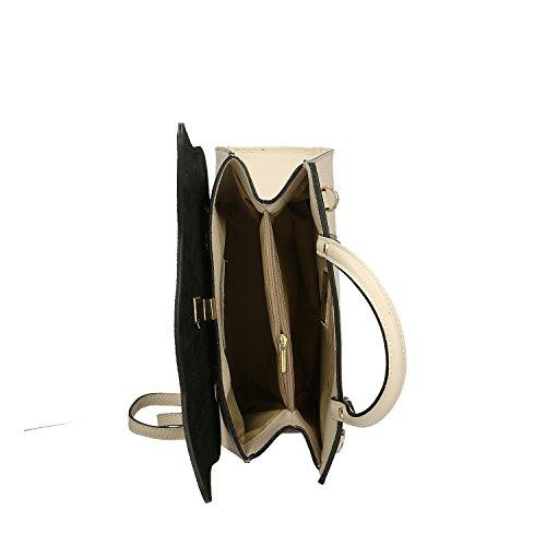 Fabricado Genuina Bolso Italia Piel Cm Beige Borse Mujer Chicca Taupe En 32x28x13 qaTYOXxw