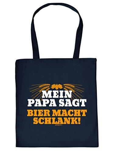 Tasche auch für Weihnachten. Henkeltasche mit Aufdruck: PAPA SAGT. Diese Einkaufstasche ist eine tolle Geschenkidee. xlTIoe