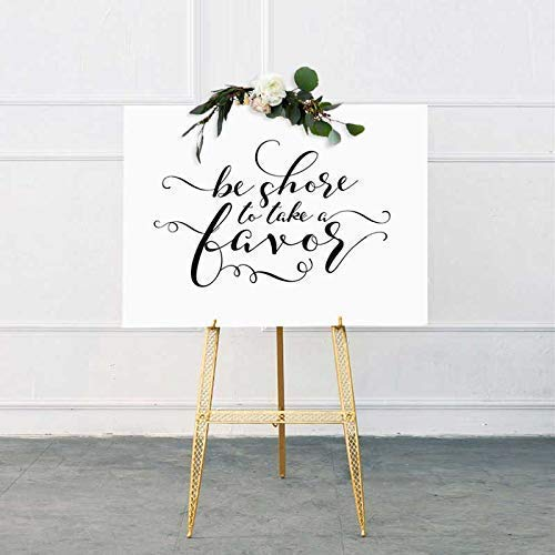 Be Shore To Take A Favor Sign Nautical Theme Wedding Beach Theme Bridal Shower Beach Wedding Favors for Guests Beach Bachelorette Party 8x10 Inches No Frame T123-B