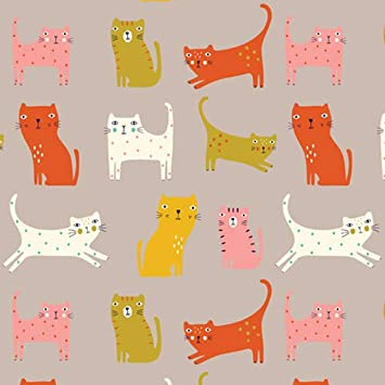 Dashwood Studio Cool for Cats - Tela de algodón para Gatos (50 x 110 cm, Medio Metro), Color Gris: Amazon.es: Hogar