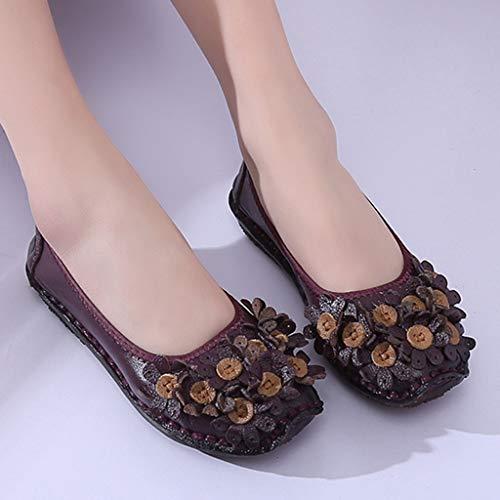 À Lzw Faible Antidérapant L'usure Respirant Plates Simples Résistant Aide Mou Doux Amortissement Fond Violet Chaussures qBBnCgw5