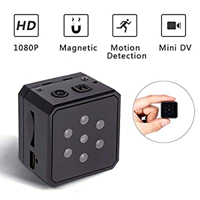 ikcool Mini Hidden Spy Camera Portable 1080p HD Nanny Camera Night Version Motion Detection Provide Perfect Indoor Covert Security Camera Home Office (Update Version) from ikcool