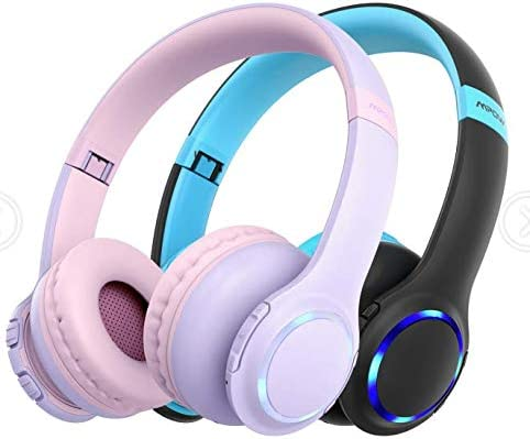 Auriculares para niños Mpow CH9 Auriculares Bluetooth para adolescentes plegables con Enchufe de 3.5 mm Cable extraíble con micrófono para Movil, PC, Tablet
