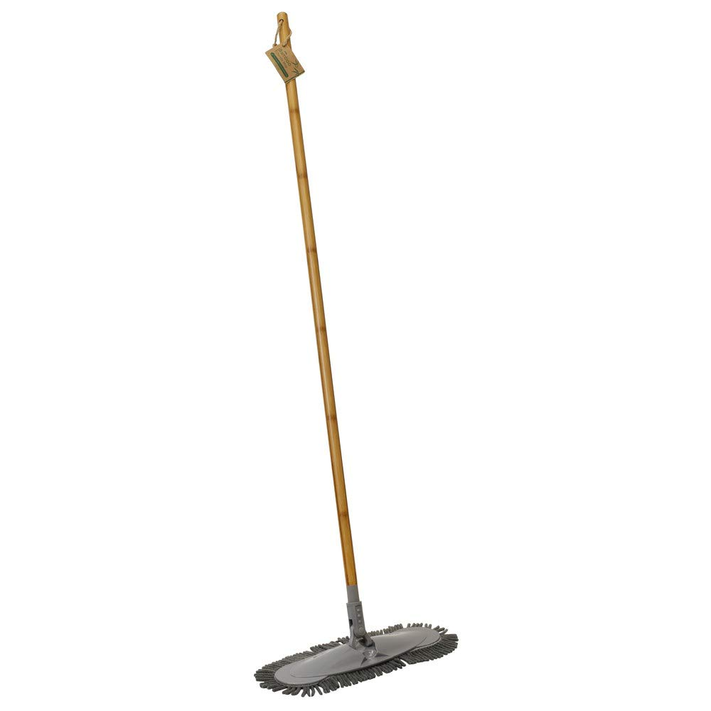 JVL Natural Bamboo and Chenille Flat Floor Mop