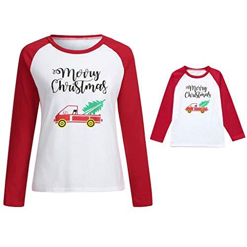 Seaintheson Family Matching Christmas Pajamas Tops, Xmas Car