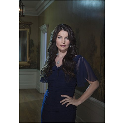 (Witches of East End (TV Series 2013 - 2014) 8 inch x10 inch Photo Julia Ormond Long Blue Dress in Hallway Next to Wall Mural Pose 2 kn)