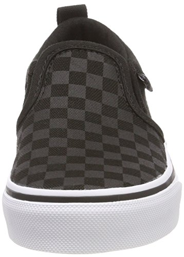 Vans Asher, Unisex-Kinder Sneaker, Schwarz (Checker), 32.5 EU