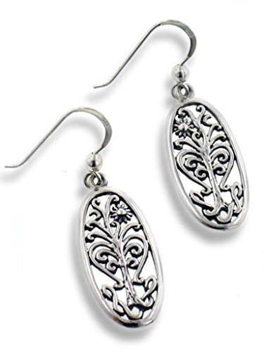 flowering-tree-of-life-religious-symbol-filigree-sterling-silver-oval-hook-earrings