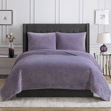 Christian Siriano Luxury 3 Pc King Bedding Set in Violet