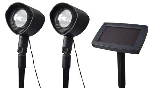 Moonrays 93382 Solar Powered Landscape Spotlights with Remote Solar Panel, by Moonrays