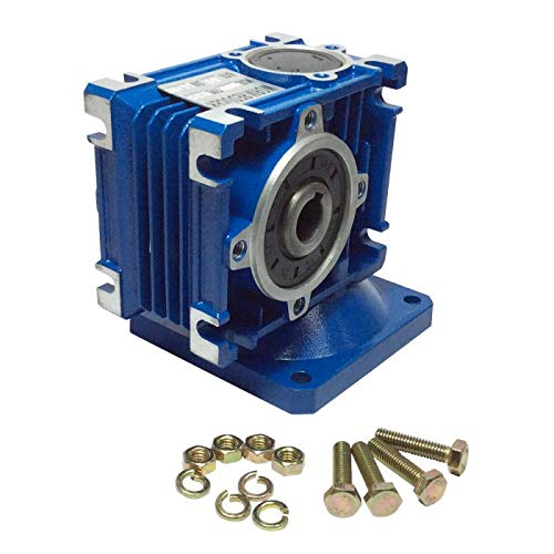 BEMONOC DC Right Angle Gearbox RV030 Reduction Ratio 1:30 Geared Speed Reducer Head Reversible