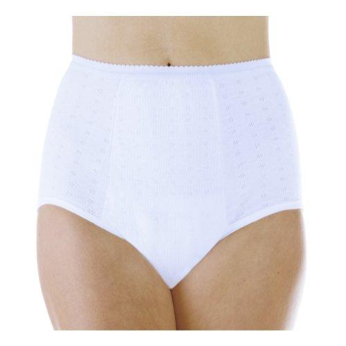 3-Pack Women's Maximum Absorbency Reusable Bladder Control Panties White Large (Fits Hip: 41-42