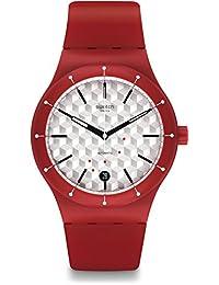 Swatch Women's Originals SUTR403 Red Silicone Quartz Fashion Watch