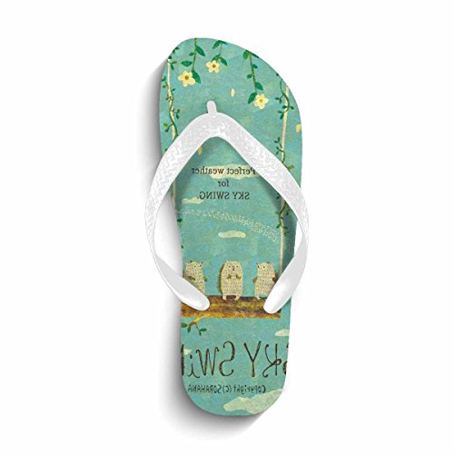 Summer Slippers Flop Women's Hope Chad Beach Flip amp; Comfortable white Flip shoes Sandals Flops Beach gq1Xfqw