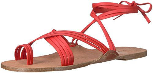 buy cheap latest collections Via Spiga Women's Allegra Ankle Wrap Fisherman Sandal Poppy Red Leather with credit card recommend cheap online 9BGfKV7