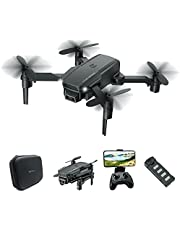 Mezone Drone (with Bag) with 1080P HD Camera for Adults and Kids, Foldable Quadcopter with Wide Angle FPV Live Video, Trajectory Flight, App Control,Optical Flow, Altitude Hold,Modular Batteries
