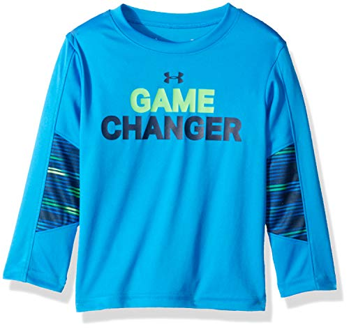 - Under Armour Boys' Toddler Long Sleeve Graphic Tee Shirt, Game Changer Blue Circuit 2T