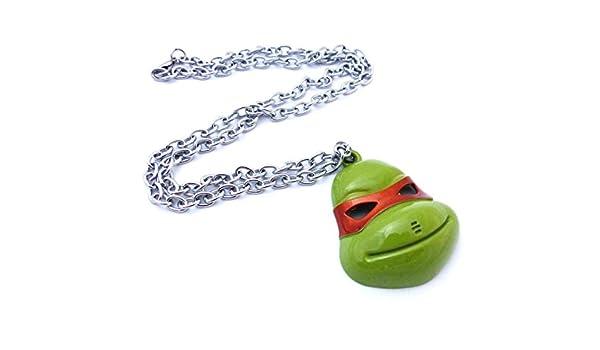 Collar Michelangelo - Tortugas Ninja: Amazon.es: Joyería