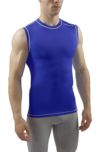Sub Sports Mens Sleeveless Compression Top Base Layer Tank Top Vest (Sleeveless Base)