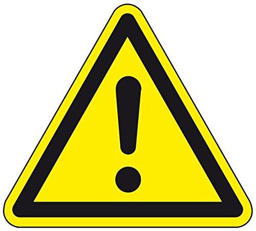 LEMAX® Warnschild Allgemeines Warnzeichen, ASR/ISO, Aluminium, SL 200mm