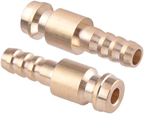 letaosk para TIG Antorcha de soldadura admisi/ón Gas y agua adaptador macho Conector R/ápido 2pcs 6/mm Dia.