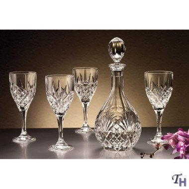 Godinger Dublin Wine Glasses and Decanter Set - 5 Piece