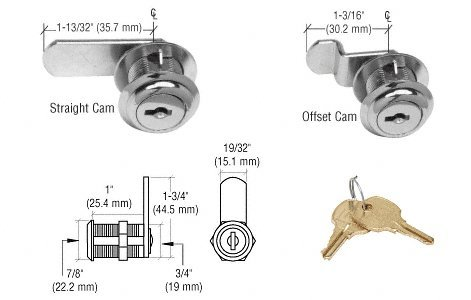 CRL Brushed Nickel Keyed Alike Cam Lock by CR Laurence by CRL (Image #1)
