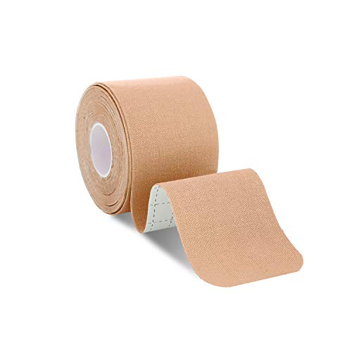 Udaily Tape Kinesiology Tape Bulk Roll Therapeutic Sports Tape for Knee Shoulder and Elbow, Breathable, Water Resistant, Latex Free, 2 x 16.5 feet Roll