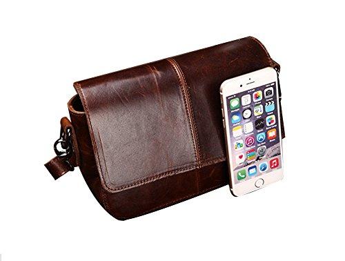 Genda 2Archer Piccola Borsa Bag Crossbody Tracolla in Vera Pelle di Moda (22 cm * 7cm * 16cm)