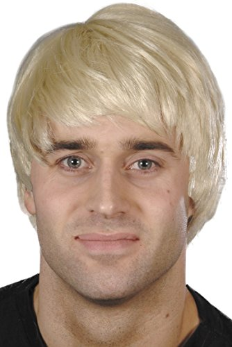 Smiffys Men's Short Blonde Guy Wig, One Size,