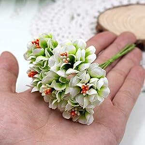 GSD2FF 6pcs Silk Gradient Stamen Artificial Flowers Handmade Bouquet for Wedding Home Decoration DIY Scrapbooking Wreath 39