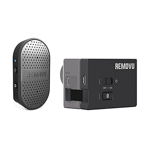 REMOVU RM-M1+A1 Wireless Microphone and Receiver for GoPro HERO4,...
