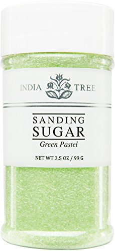 Sugar Sanding Decorative - India Tree Green Pastel Sanding Sugar, 3.5 Ounce