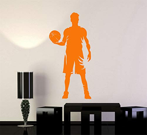 Jiesa Quotes Wall Sticker Mural Decal Art Home Decor Basketball Player Silhouette Sports Art Boy Room Bedroom Patterns House Interior Ornament -