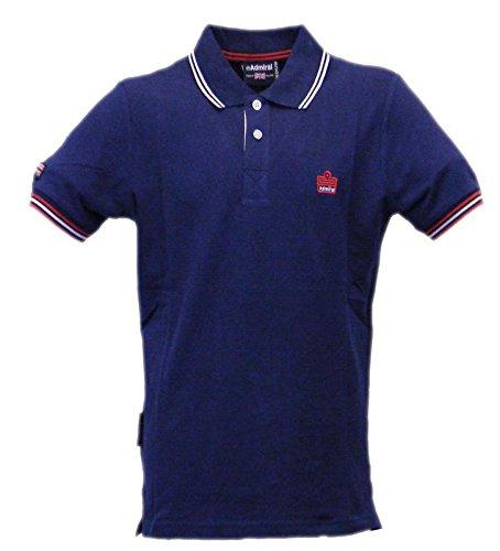 039 Piqué Bleu blue Logo Man Marine Polo Sportswear Admiral BA18x5