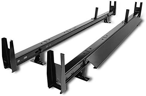 TAC - Escalera universal para techo de 2 barras con capacidad de 6,6 kg, barra transversal