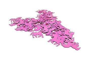 Versandhop 45g Konfetti Einhorn Rosa Rot Basteln Tisch Dekorieren