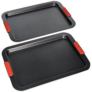 Elite Bakeware NonStick Baking Pans Set - Baking Sheets - Cookie Sheets - Premium Bakeware Set (Pack of 2)