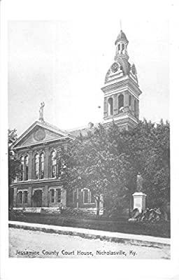 Nicholasville Kentucky Jessamine County Court House Real Photo Postcard V9944