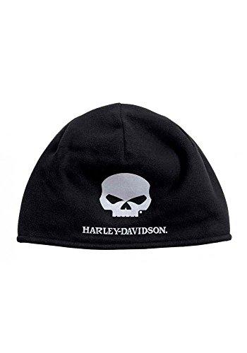 s Willie G Skull Cold Weather Fleece Hat, Black 99430-16VM (Harley Davidson Mens Fleece)