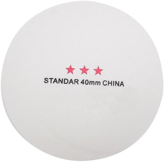 junengSO 50 Piezas 3 Estrellas estándar 40 mm Tenis de Mesa olímpico Pelotas de Ping Pong Juegos de Interior Caliente