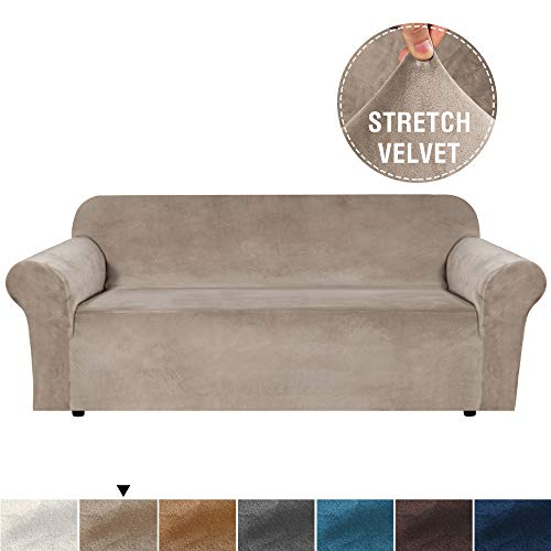 H.VERSAILTEX Real Velvet Plush Sofa Cover, Couch