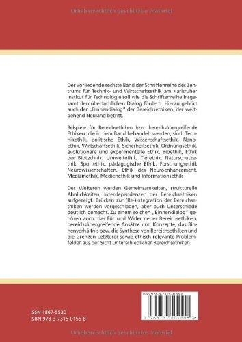 bereichsethiken im interdisziplinaeren dialog volume 6 schriftenreihe des zentrums fuer technik und wirtschaftsethik am karlsruher institut fuer - Wirtschaftsethik Beispiele