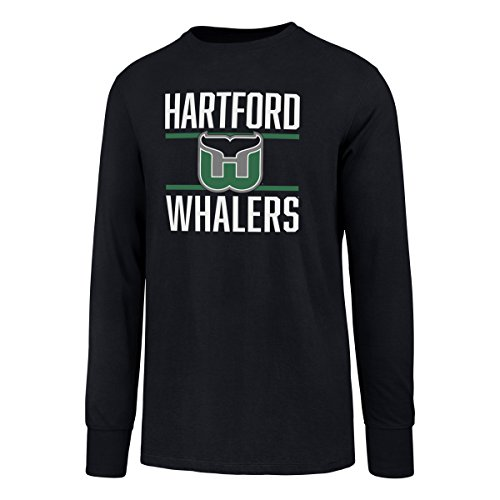 NHL Hartford Whalers Men's Ots Rival Long sleeve Tee, Medium, Fall Navy ()